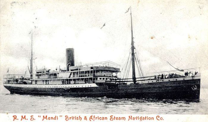 SS Mendi postcard, from the John Gribble Collection, featured in Africa PORTS & SHIPS maritime news