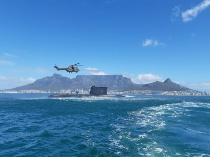 Joint maritime search and rescue exercise held off Cape Town included the SA Navy sub S101. Picture: NSRI, featured in Africa PORTS & SHIPS maritime news