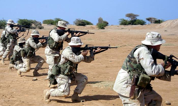 US Marines training at Camp Lemonnier, the US Naval Expeditionary Base at Djibouti, featured in Africa PORTS & SHIPS maritime news