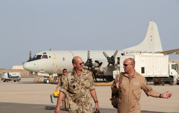 German AF P-3C Orion after landing at Djibouti, featured in Africa PORTS & SHIPS maritime news