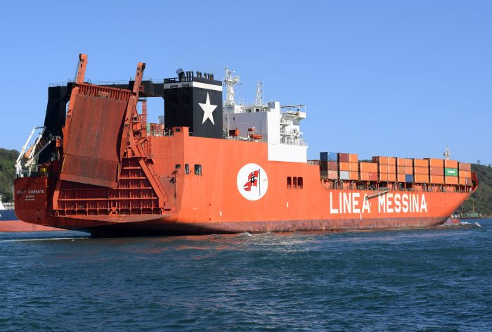 Jolly Diamante in Durban.    Pictures: Trevor Jones, appearing in Africa PORTS & SHIPS maritime news