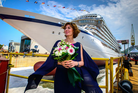 Viking Jupiter was floated out in May in Ancona, Italy. Norwegian soprano Sissel Kyrkjebø helped celebrate that event as well., ffeatured in Africa PORTS & SHIPS maritime news