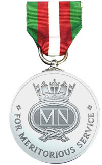 Merchant Navy medal, featured in Africa PORTS & SHIPS maritime news