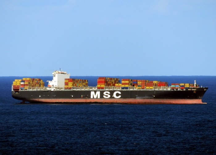 MSC Sindy off Durban, appearing in Africa PORTS & SHIPS maritime news. Picture: Ken Malcolm
