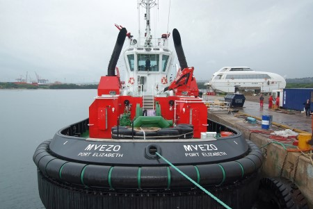 Port Elizabeth tug Mvezo, appearing in Africa PORTS & SHIPS maritiem News