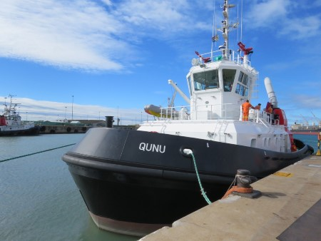 Port Elizabeth tug Qunu, appearing in Africa PORTS & SHIPS maritime news