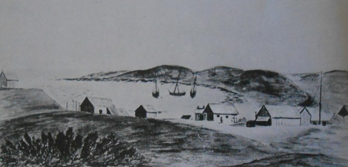 1854 sketch of Hondeklip Bay, appearing in Africa PORTS & SHIPS maritime news