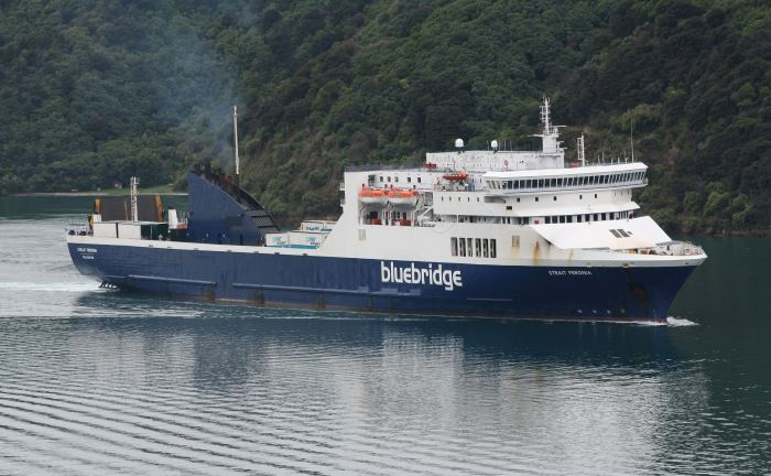 Strait Feronia arriving at Pictron, New Zealand from Wellington and appearing in Africa PORTS & SHIP maritime news. Picture is by Alan Calvert