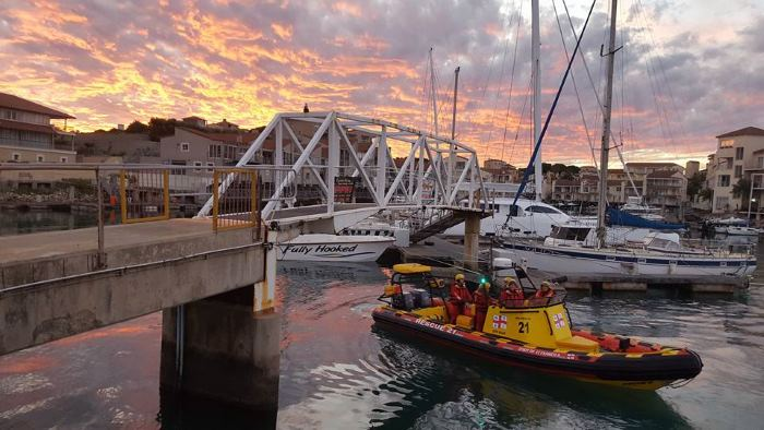 The NSRI rescue craft Spirit of St Francis, appearing in Africa PORTS & SHIPS maritime news