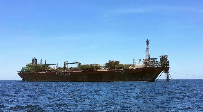 The FPSO Berge Helene at anchor in St Helena Bay