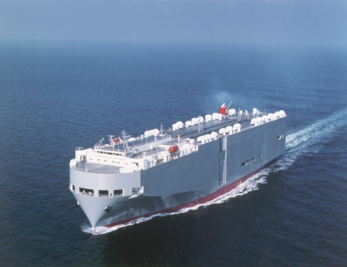 K-Line vehicle carrier, appearing in Africa PORTS & SHIPS maritime news