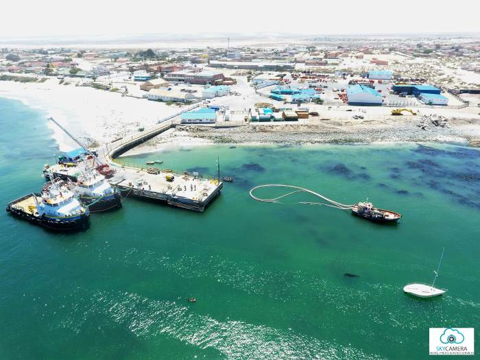 Port Nolloth, aerial, featured in Africa PORTS & SHIPS maritime news. Picture courtesy TNPA