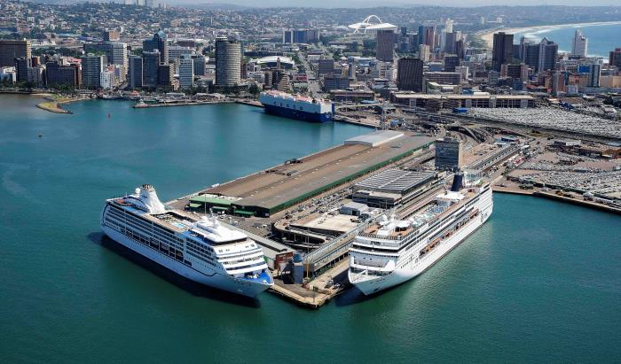 Durban's T-Jetty and the current Cruise Terminal and Ocean Termainal Building. Picture: Russell Cleaver, featured in Africa PORTS & SHIPS maritime news