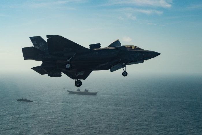 Two F-35B Lightning II fighter jets have successfully landed on HMS Queen Elizabeth for the first time, laying the foundations for the next 50 years of fixed wing aviation in support of the UK's Carrier Strike Capability. Photo MoD Crown Copyright 2018 ©, featured in Africa PORTS & SHIPS maritime news
