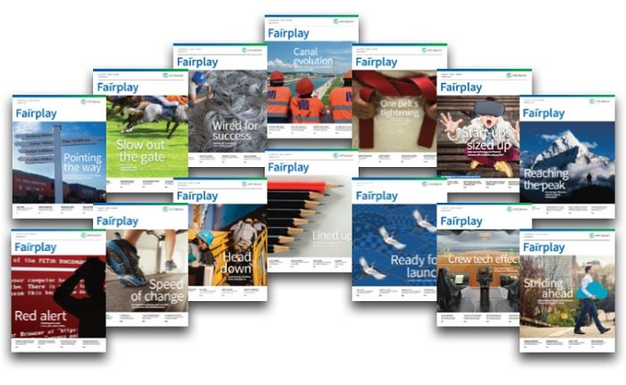 IHS Fairplay magazine covers, soon to disappear into history, reports in Africa PORTS & SHIPS maritime news