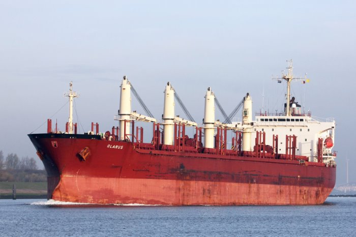 MV Glarus, attacked by Nigerian pirates in late September and 12 crew abducted, appearing in Africa PORTS & SHIPS maritime news