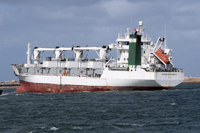 Green Karmoy. Pictures: Trevor Jones, featured in Africa PORTS & SHIPS maritime news