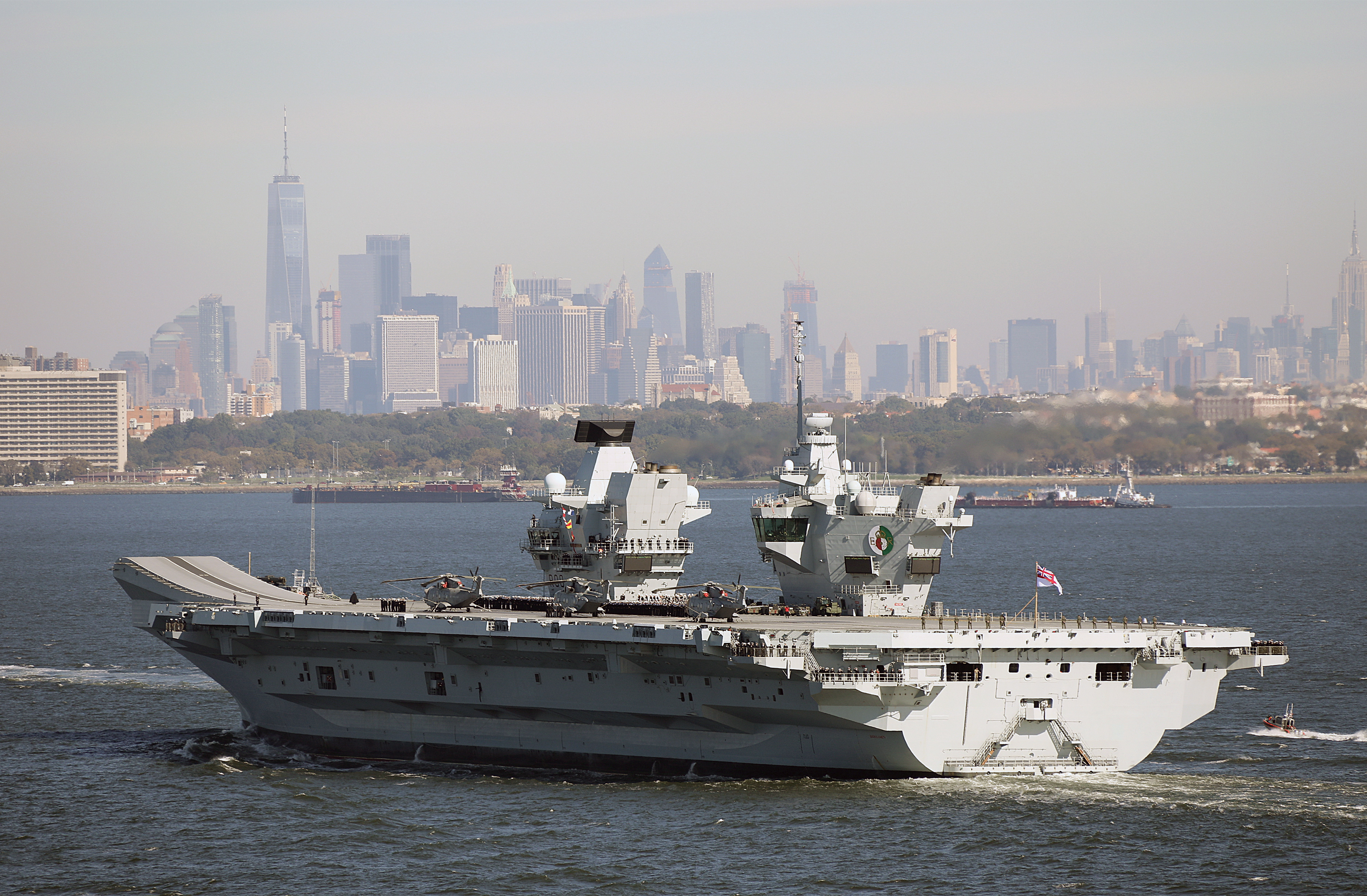 HMS Queen Elizabeth arriving last week in New York, Photographs MoD Crown Copyright 2018 ©, featured in Africa PORTS & SHIPS maritime news