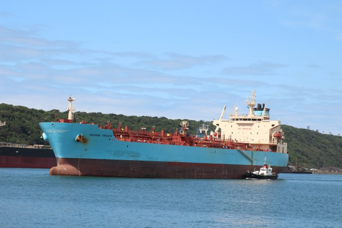 Maersk Trieste. Picture: Keith Betts, featured in Africa PORTS & SHIPS maritime news