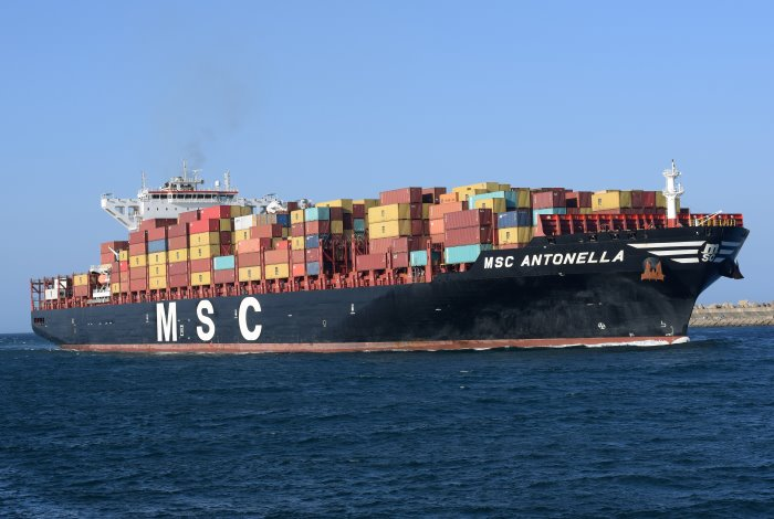 MSC Antonella.       Picture: Trevor Jones, featured in Africa PORTS & SHIPS maritime news