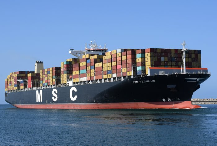 MSC Regulus arriving in Durban, featured in Africa PORTS & SHIPS maritime news. Picture: Trevor Jones