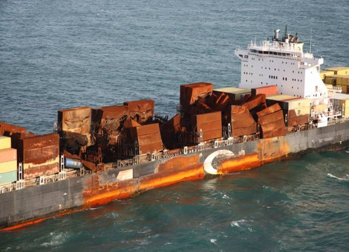 MSC Flaminia - aftermath of the fire. Picture: odin.tc, featured in Africa PORTS & SHIPS maritime news