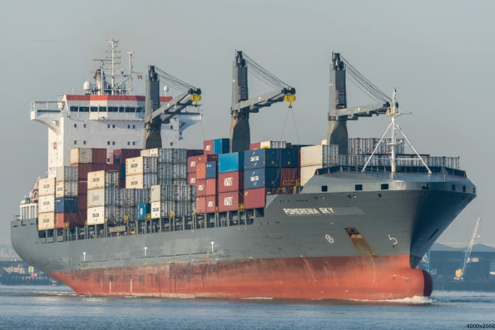 Pomerenia Sky pirated off Nigeria. Picture courtesy: Shipspotting, featured in Africa PORTS & SHIPS maritime news
