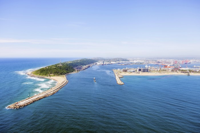 Port of Durban viewed from the sea, featured in Africa PORTS & SHIPS maritime news. Picture:TNPA