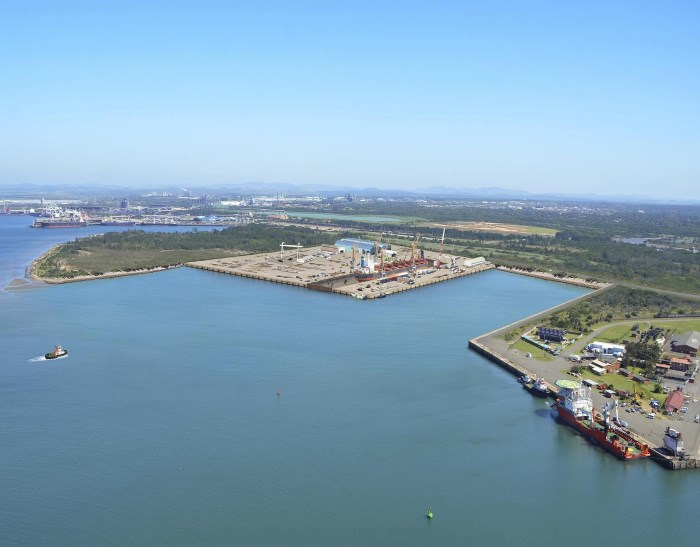 The site of the proposed Richards Bay ship repair facility with floating dock. The small craft quay that will be strengthened and deepened is on the right, featured in Africa PORTS & SHIPS maritime news