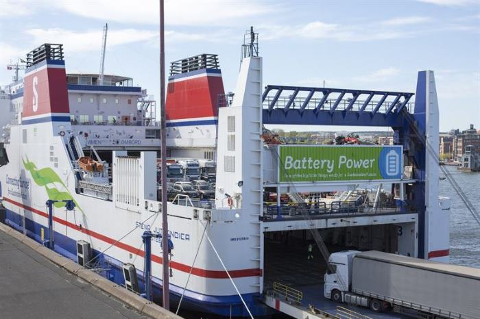 Stena Jutlandica, batteery-powered and featured in Africa PORTS & SHIPS maritime news