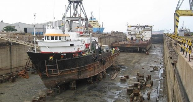 Tema Shipyard and dry dock, appearing in Africa PORTS & SHIPS maritime news