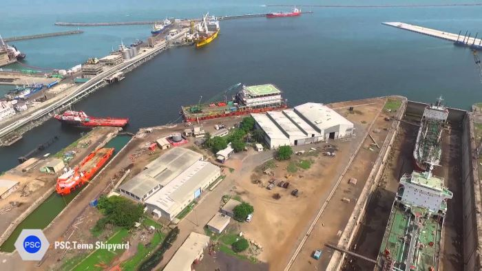 Tema Shipyard and two dry docks, featured in Africa PORTS & SHIPS maritime news