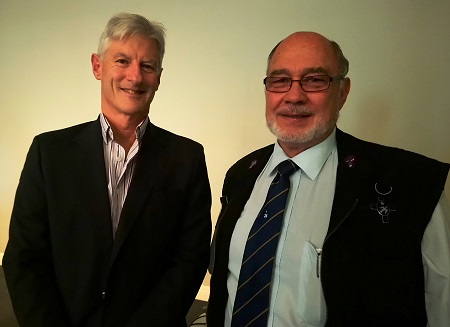 Andrew Pike of Bowmans attorneys and Revd Boet van Schalkwyk of the Seamens Society, featured in Africa PORTS & SHIPS maritime news