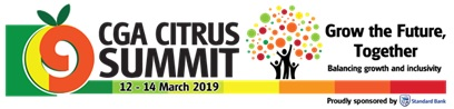 CGA Citrus Summit banner, appearing in Africa PORTS & SHIPS maritime news