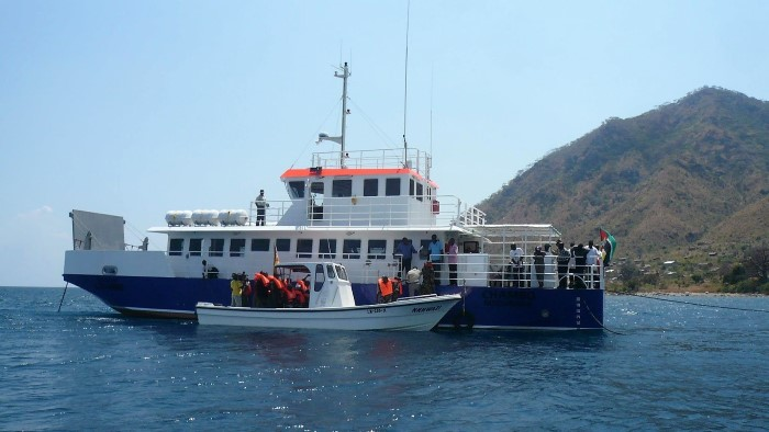 The Lake Niassa (Malawi) ferry Chambo, featured in a report in Africa PORTS & SHIPS maritime news
