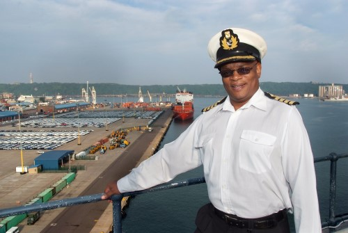 Captain Rufus Lekala, TNPA chief harbour master and the Port of Durban City Terminal, appearing in Africa PORTS & SHIPS maritime news