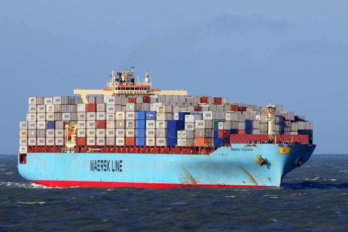 Maersk Kolkata. Picture courtesy: Shipspotting, featured in Africa PORTS & SHIPS maritime news