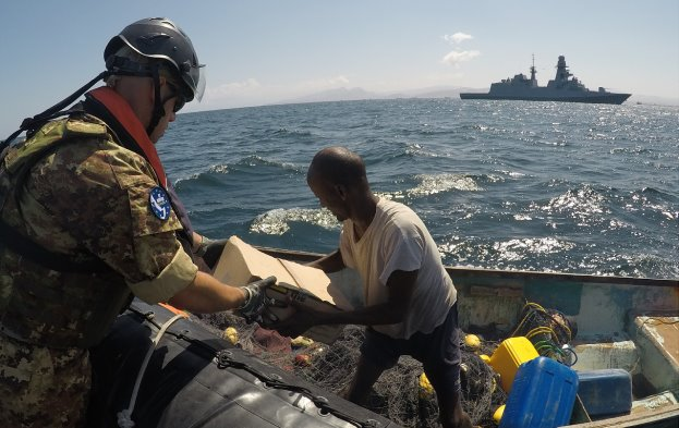Assisting the fishermen of the Bosaso coast, featured in Africa PORTS & SHIPS maritime news, pictures by EU NAVFOR