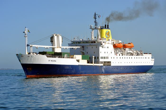 RMS St Helena as she was in mailship service. Picture: Ian Shiffman, featrued in Africa PORTS & SHIPS maritime news