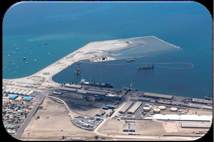 An early stage of the new container terminal development. Picture: Namport, featured in Africa PORTS & SHIPS maritime news