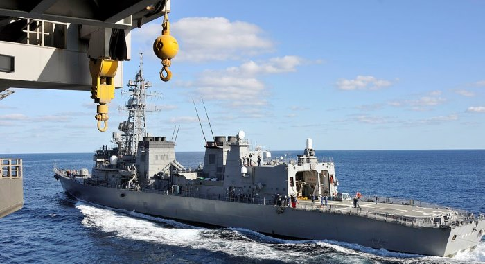 The Japanese Navy ship JS IKAZUCHI which is operating with the US Navy carrier USS GEORGE WASHINGTON. Picture: CTF 151, appearing in a report in Africa PORTS & SHIPS maritime news