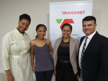 Asanda Mlata (MBDA), Funeka Ngqunge (CVC Africa), Cleo Ntsangani (Transnet Port Terminals/TPT) and Sujit Bhagattjee (TNPA), appearing in Africa PORTS & SHIPS maritime news