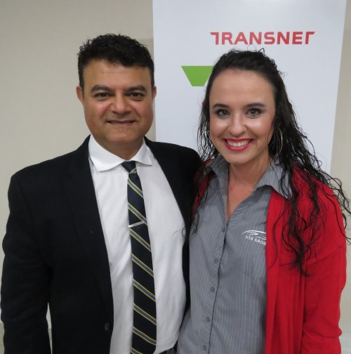 Sujit Bhagattjee (TNPA) with Jeannie Gerber (BLG Logistics), appearing in Africa PORTS & SHIPS maritime news