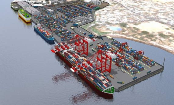 New extension to Freetown container terminal, Sierra Leone