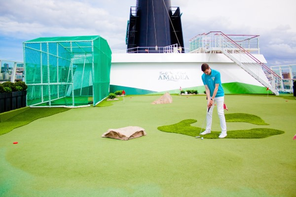 A golf 'course' on board, featured in Africa PORTS & SHIPS maritime news