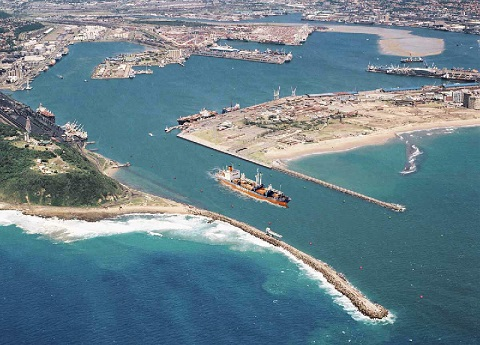 Port of Durban entrance, featured in Africa PORTS & SHIPS maritime news
