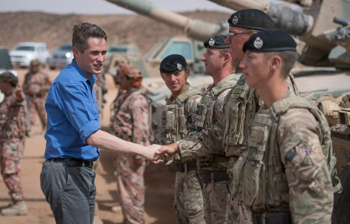 Defence Secretary Gavin Williamson meeting soldiers and officers from The Royal Tank Regiment. On 3 November 2018, British and Omani armed forces worked together on the Fire Power Demo, the culmination and final element of Ex Saif Sareea 3. In the space of an hour guests witnessed a range of military capabilities from armoured assault and artillery bombardments to air despatch and helicopter assaults. Also being demonstrated was the military interoperability which both countries have been working towards during Exercise Saif Sareea 3. Visitors included the First Sea Lord and Chief of Naval Staff Admiral Sir Philip Jones. The MoD has deployed over 5500 troops to Oman for Exercise Saif Sareea 3 (SS3). This is the third time that the British and Omanis have trained together, SS1 was in 1986 and SS2 in 2001. SS3 is the British Army's largest exercise of its kind in 17 years and tested the UK's and the Sultanate's ability to operate together in austere conditions through the deployment of a Coalition Joint Task Force (CJTF).  Photo: MoD Crown Copyright 2018 © as featured in report carried by Africa PORTS & SHIPS maritime news