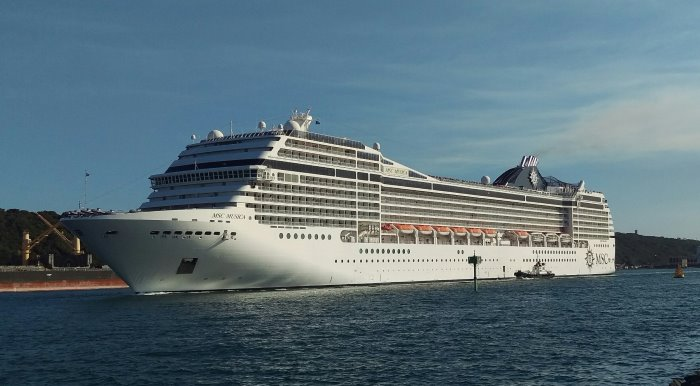 MSC Musica sailing from Durban. Picture: Clinton Wyness, featured in Africa PORTS & SHIPS maritime news