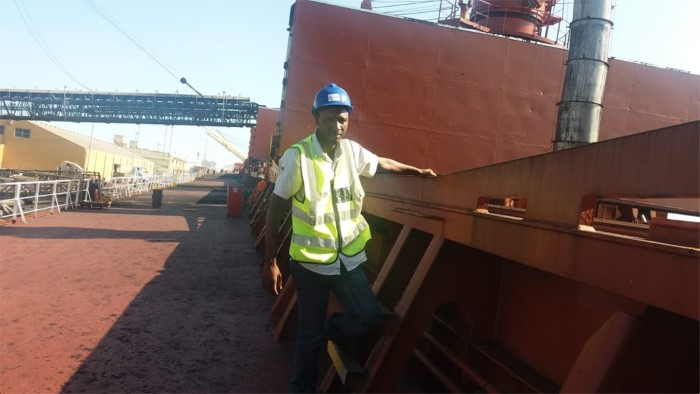 Coaling berth at Port of Beira. Picture: LBH, featured in Africa PORTS& SHIPS maritime news