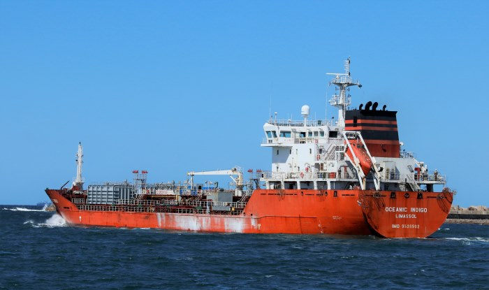 Oceanic Indigo sailing from Durban bound for Lome, featured in Africa PORTS & SHIPS maritime news. Picture by Keith Betts